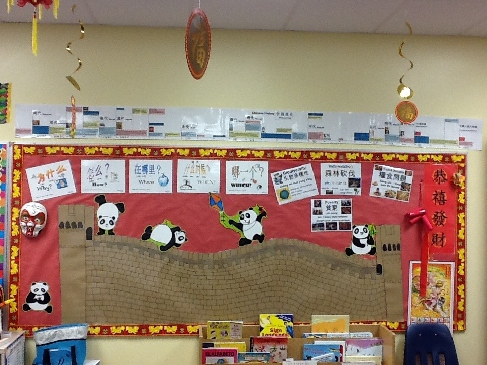 classroom displays great wall questions creative chinese