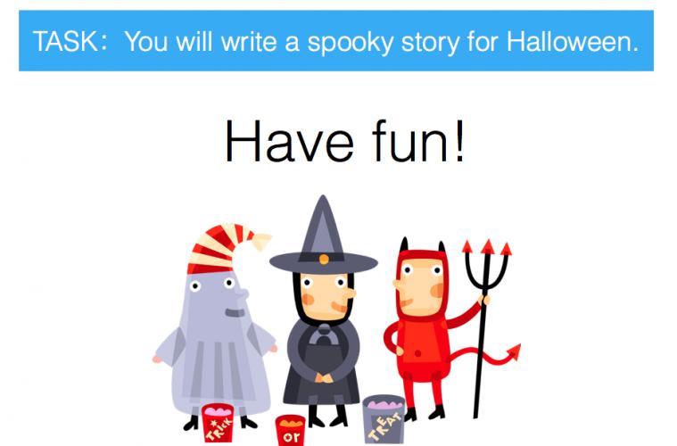 spooky story essay