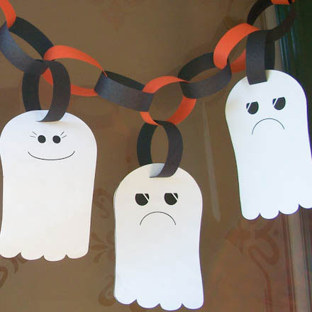 Halloween Craft: Ghost Garland – Creative Chinese